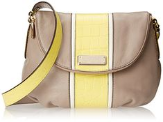 Marc by Marc Jacobs New Q Croc Striped Natasha Cross Body Bag, Cement Multi, One Size