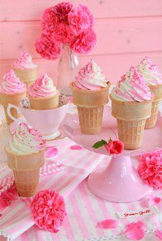 Falsos cupcakes helado