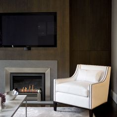 Spaces Modern Fireplace Design, Pictures, Remodel, Decor and Ideas - Fireplace Ideas