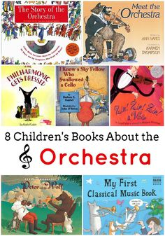 8 Children's Books About the Orchestra -- these picture books are great for home, homeschool, or teachers. Learn more about the symphony, classical music, and instruments (sponsored post).