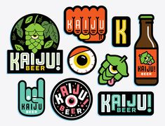 Kaiju Beer - Coasters? Stickers? Imagine getting a sticker pack from a brewery, awesome!