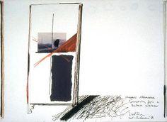 Ralph Hotere Towards Aramoana (Drawing For A Black Window) - Folio inspiration Abstract Expressionism, Abstract Art, New Zealand Art, Nz Art, Alberto Giacometti, Maori Art, Black Windows, Action Painting, Art Database