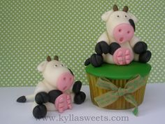 farm cow cupcake | Flickr - Photo Sharing!
