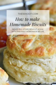Trish's Perfect Homemade Biscuits Recipe Is A Winner And The.- You'll Love Trish's Perfect Homemade Biscuits Recipe Homemade Biscuits Recipe, Easy Homemade Recipes, Homemade Breads, Recipes For Biscuits, Bread Flour Recipes, Bread Baking, Homemade Biscuits From Scratch, Biscuit Dough Recipes, Homemade Sausage Gravy