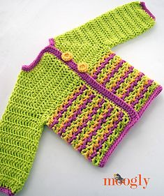 the Loopy Love Baby Sweater - free crochet pattern