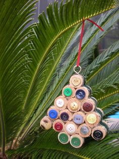Handmade Wine Cork Christmas Tree Ornament by CraftyCooper on Etsy, $10.00