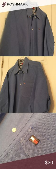 Men's Tommy Hilfiger buttondown shirt Very pretty blue men's buttondown shirt by Tommy Hilfiger. A great choice for the business casual wardrobe.  It's in excellent condition. Tommy Hilfiger Shirts Casual Button Down Shirts