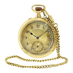 A. Lange & Sohne 18k gold open-face pocket watch, circa 1925 #ALangeSohne #gold