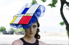 David - A lovely fascinator in the mode of Piet Mondrian