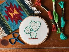 Cactus  Valentine's Day  Prickly Pear Cactus by MountainsofThread