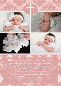 Pink Baptism Invitation - Dove Christening Invitation - Pink ...