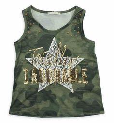 Nk Kids Kız Çocuk Kamuflaj Tshirt 002-31778-020