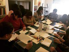 Caras de concentración toma 2 #curso de #encuadernacion #florencelivres