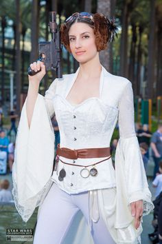 Steam Punk Princess Leia | http://facebook.com/MannyLlanuraPhoto Star Wars Celebration Anaheim 2015 Cosplay
