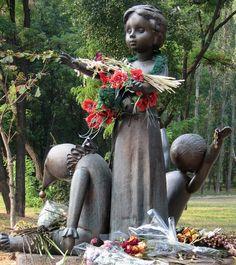 Monument to the children murdered at Babi Yar. Kiev, Ukraine.