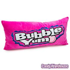 Candy Pillows, Cute Pillows, Soft Pillows, Bubble Yum, Yummy World, Wholesale Candy, Types Of Candy, Candy Labels, Big Plush