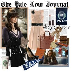 Rory Gilmore inspired outfit. Yale class with bookish charm.
