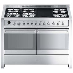Buy Smeg A4-8 Dual Fuel Range Cooker, Stainless Steel Online at johnlewis.com