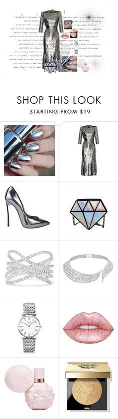 """Untitled #141"" by believeifulove ❤ liked on Polyvore featuring Dolce&Gabbana, Casadei, Effy Jewelry, Messika, Longines, Lime Crime, Bobbi Brown Cosmetics and Laura Mercier"
