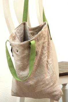 vegane, plastikfreie Tasche aus Leinen, biologisch abbaubar, in Deutschland…