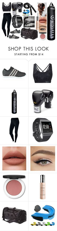 """""""Boxing!!!! <3"""" by hayley11123 ❤ liked on Polyvore featuring Y-3, Sweaty Betty, Everlast, NIKE, Fitbit and By Terry"""