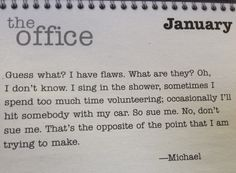 The office daily quote calendar — i neeeed this in my life!