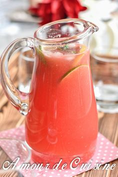 limonade de pasteque, watermelon limonade