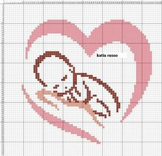 This Pin was discovered by Len Crochet Quilt Pattern, Crochet Chart, Crochet Patterns, Filet Crochet, Cross Stitch Heart, Simple Cross Stitch, Cross Stitch Designs, Cross Stitch Patterns, Cross Stitching