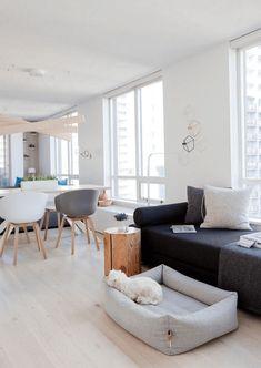 Moderne Wohnzimmer Einrichtung Im Skandinavisch