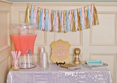 Pink and Gold 2nd birthday party via Kara's Party Ideas KarasPartyIdeas.com Pritables, cake, decor, cupcakes, tutorials, stationery, recipes, and more! #glitterparty #girlparty #pinkandgold #secondbirthdayparty (11)