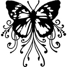 Valerie's Gallery :: Silhouette GSD Cutting Files :: butterfly_swirls found on Polyvore