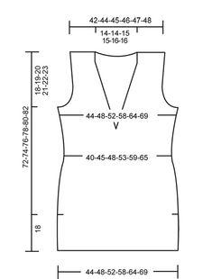 """DROPS 106-31 - Top sin mangas DROPS en punto jersey con """"Silke-Alpaca"""". Talla S – XXXL - Free pattern by DROPS Design"""