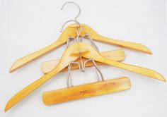 Wood Suit Hangers by Nevco Esquire, 2 Vintage Suit Hangers with Pants or Skirt Clamp by ShellyisVintage on Etsy