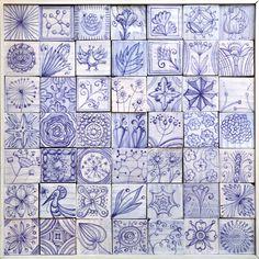 Gli Azulejos di Roberto Cambi per SHOP Saman al Fuori Salone 2014. Tiles from CERAMICA SENIO www.seniocer.it