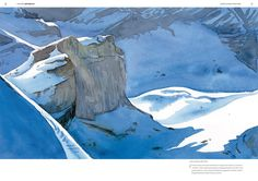 "Watercolor by Laurent Willenegger -- From Hors-série Salamandre ""Altitude 2157"""