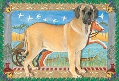 """'Tis the season to be jolly, and there is nothing more jolly than a set of Mastiff Christmas cards to decorate your mantle. Greeting """"Season Greetings and best wishes to a year of peace and happiness."""