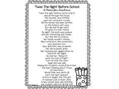 A Back To School Poem For Teachers - Teach Talk Inspire