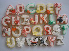 School cookies - letter set - Customsugarcookies.com