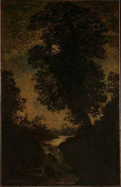 A Waterfall, Moonlight - Ralph Albert Blakelock