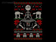 Ugly Dark Sweater - by Walmazan Available for ShirtWoot from for a limited time only. Bobble Crochet, Crochet Stars, Star Wars Wallpaper Iphone, Sweater Knitting Patterns, Crochet Patterns, Star Wars Party, Card Patterns, Christmas Cross, Pixel Art