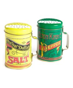 Another great find on #zulily! Yellow & Green Nostalgic Salt & Pepper Shaker Set #zulilyfinds