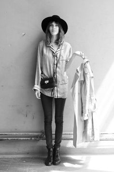 styling of masculine and feminine details from Alexa Chung