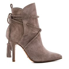 Schutz Fadhila Bootie ($290) ❤ liked on Polyvore featuring shoes, boots, ankle booties, lace up bootie, lace up high heel booties, short leather boots, lace up ankle boots and high heel boots