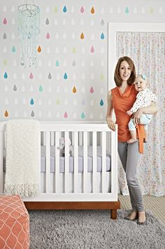 Get this Look: A Colorful Nursery Accent Wallfrom guest blogger, @emuff!