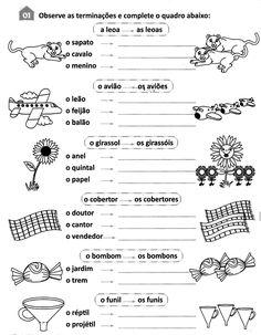 Nosso Espaço da Educação: ATIVIDADES DE PORTUGUÊS - SINGULAR E PLURAL