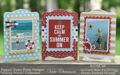 """""""Keep Calm and Summer On"""" artwork by Vicki Chrisman for Accucut and @fancypantsdsgns"""