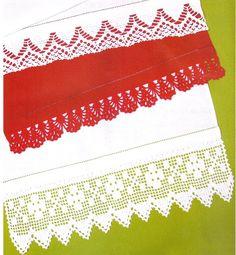 80 Gráficos de Crochet para Aprender a Fazer - Arte que Faz: Artesanato e Decoração Crochet Borders, Crochet Lace, Lace Border, Amanda, Paper Purse, Crochet Carpet, Cross Stitch Embroidery, Crafts, Manualidades