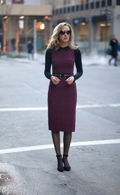 Great winter lace dress with zipper detail