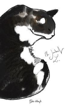 Dessin de chat tigré