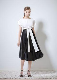 Ioanna Kourbela - 2016 Lookbook - XAMAM - Philosophy to Wear Spring 2016, Midi Skirt, High Waisted Skirt, Silk, Fabric, Skirts, How To Wear, Outfits, Clothes